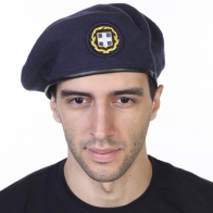 Темно-синий армейский берет Армии Греции