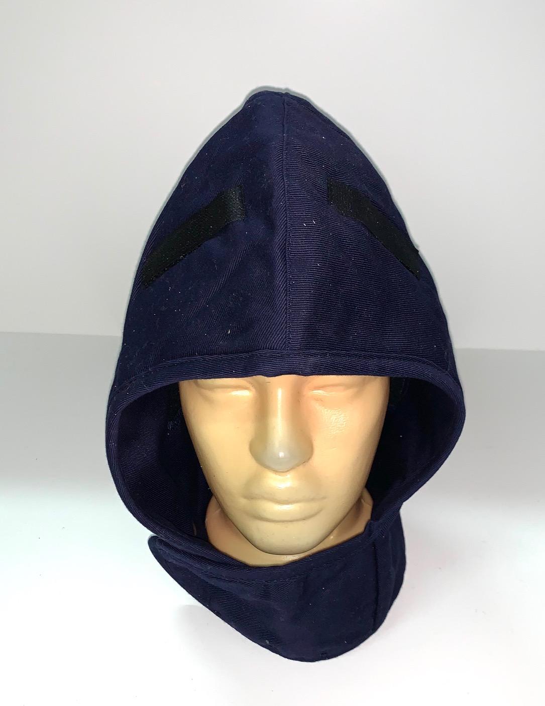 Темно-синий капор-капюшон
