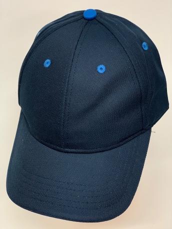 Темно-синяя бейсболка с голубыми люверсами