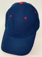 Темно-синяя бейсболка с красными люверсами