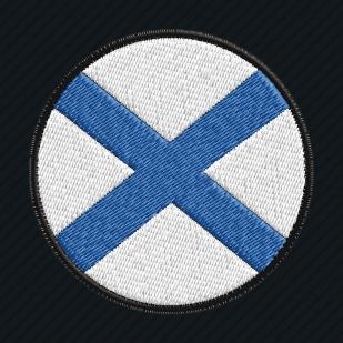 Тёмно-синяя бейсболка с вышивкой Андреевского флага