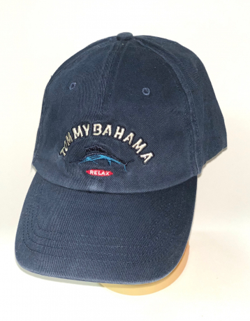 Темно-синяя бейсболка с вышивкой Tommy Bahama