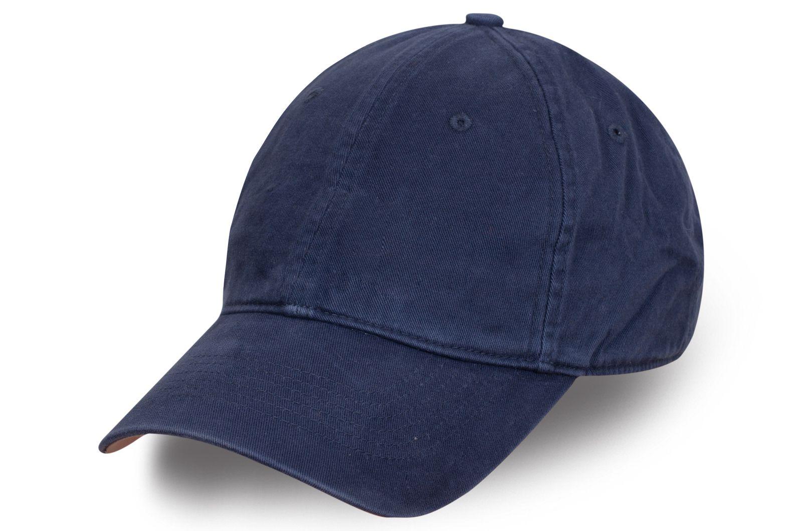 Тёмно-синяя джинсовая бейсболка