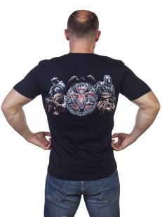 """Темно-синяя футболка """"100 лет Военной разведке"""" - купить с доставкой"""