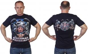 """Темно-синяя футболка """"100 лет Военной разведке"""" - купить в подарок"""