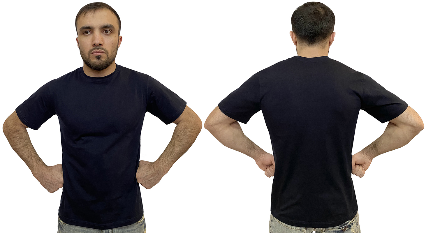 Темно-синяя футболка для мужчин
