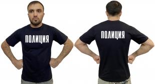 Темно-синяя мужская футболка Полиция