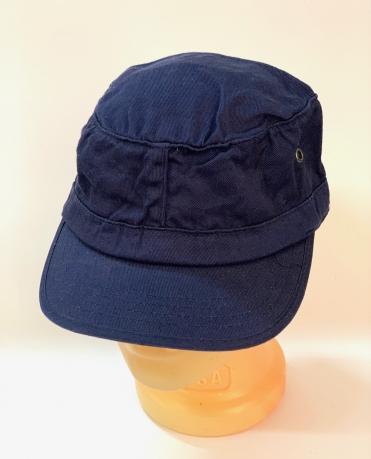 Темно-синяя кепка-немка с металлическими люверсами