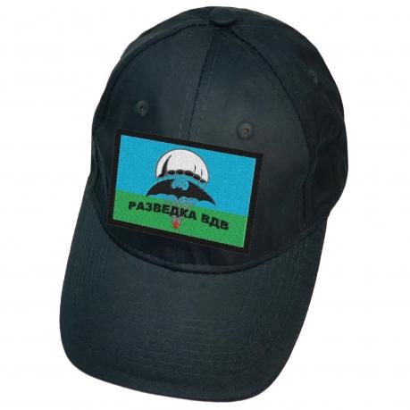 Тёмно-синяя кепка с нашивкой Разведка ВДВ
