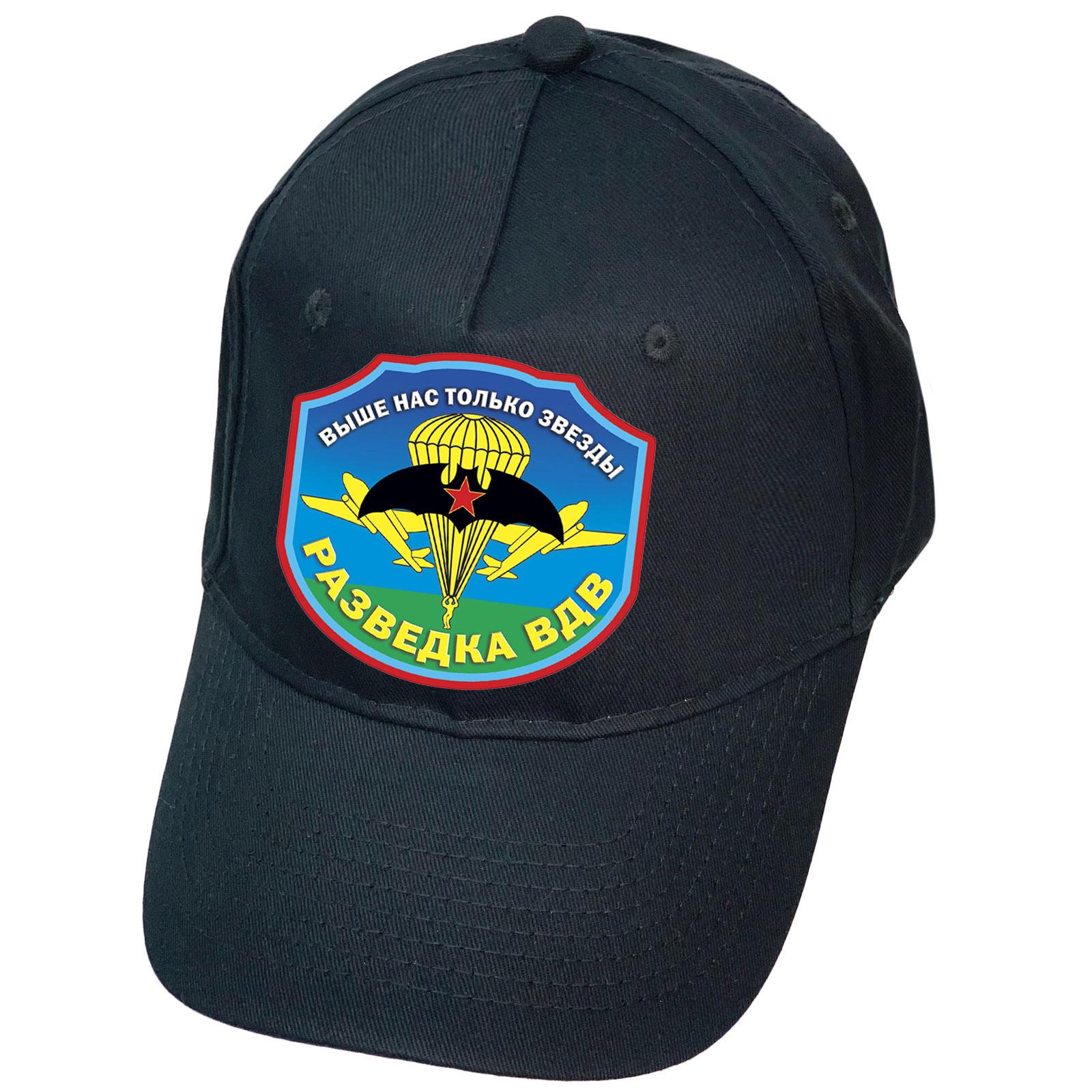 Тёмно-синяя кепка с термопереводкой Разведка ВДВ