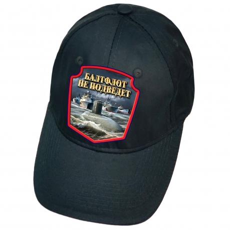 Тёмно-синяя кепка с термотрансфером Балтфлот не подведёт