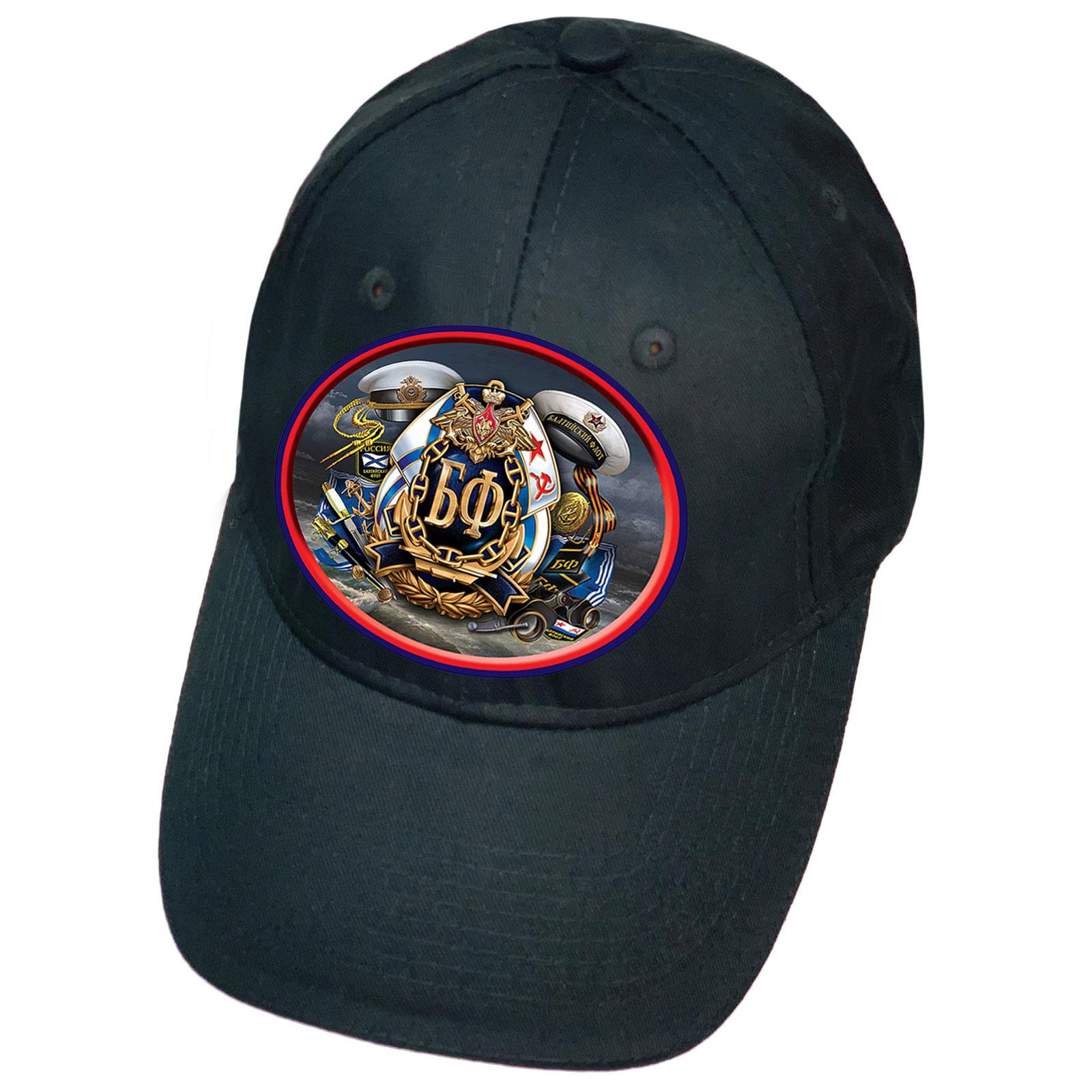 Тёмно-синяя кепка с термотрансфером БФ