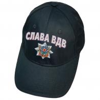 Тёмно-синяя кепка с термотрансфером Слава ВДВ