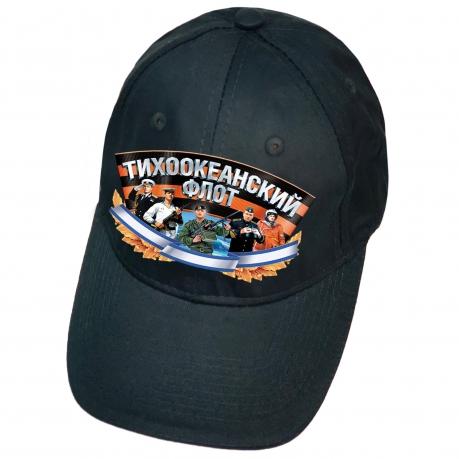Тёмно-синяя кепка с термотрансфером Тихоокеанский флот