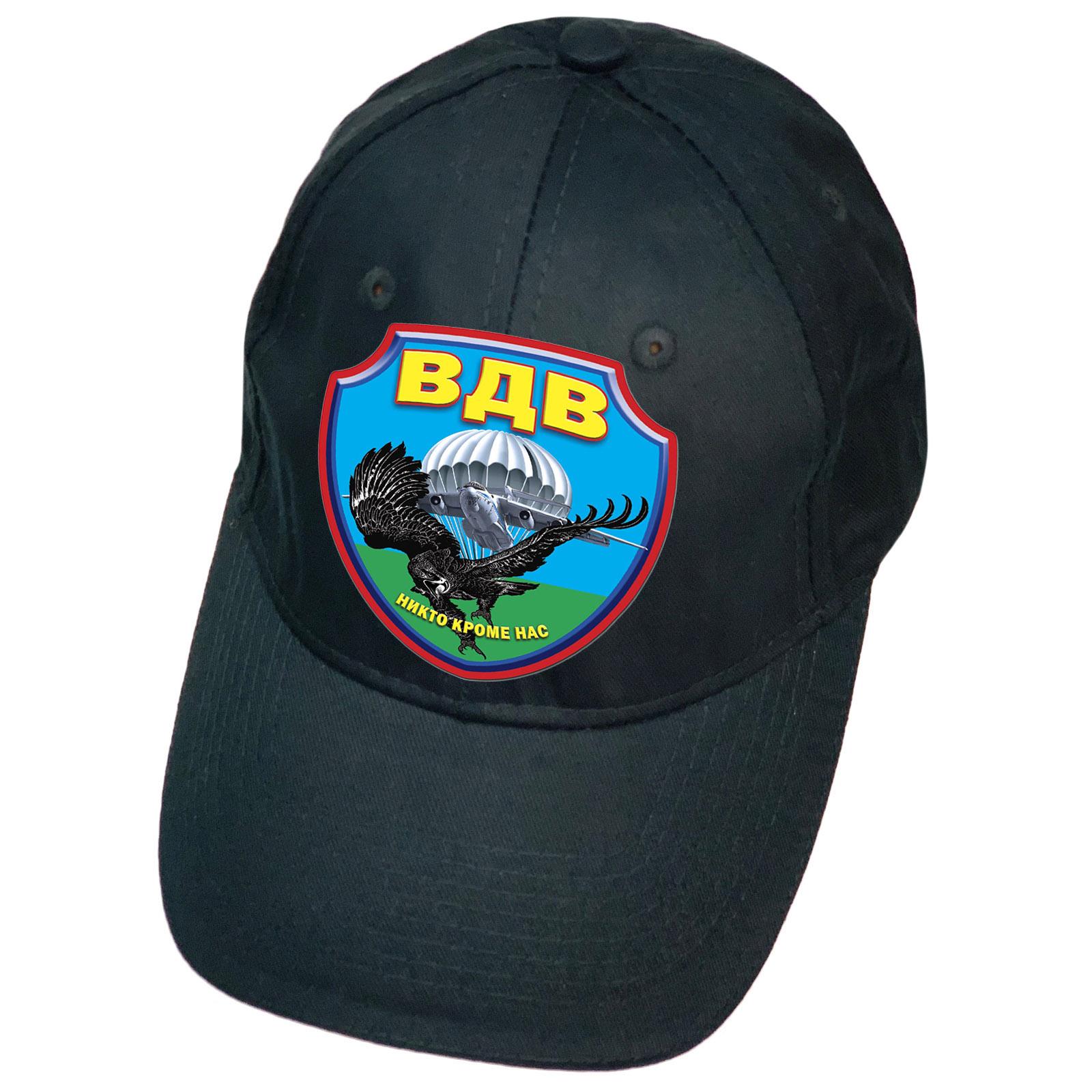 Тёмно-синяя кепка с термотрансфером ВДВ