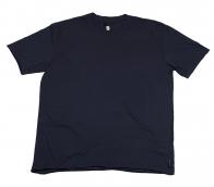 Темно-синяя мужская футболка для спорта и отдыха. Материал - хлопок 100%