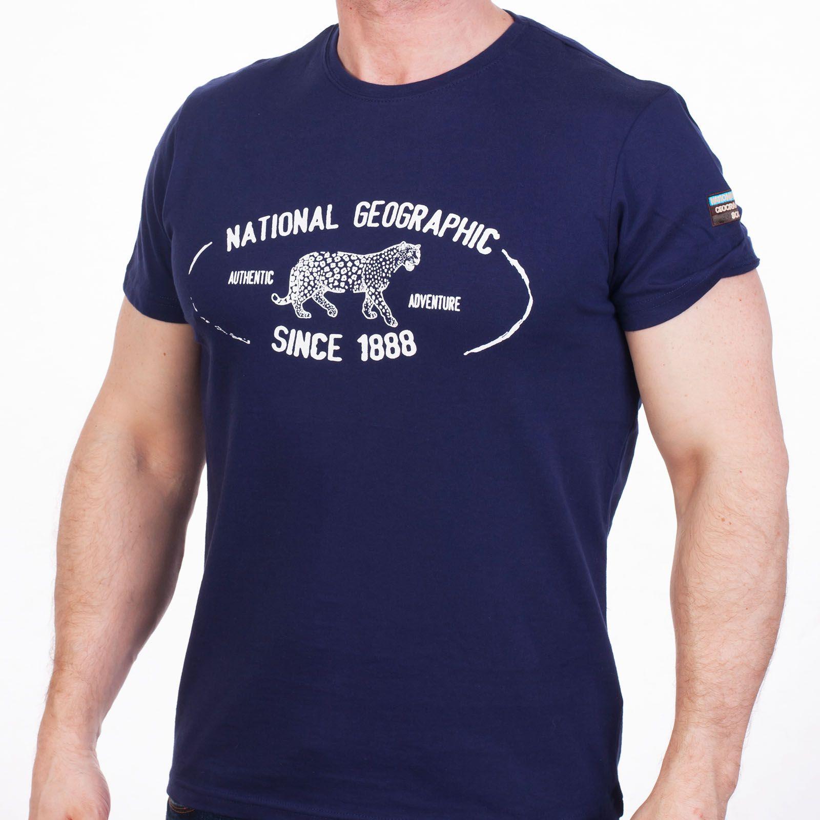 Темно-синяя мужская футболка