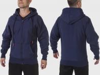 Тёмно-синяя мужская толстовка на флисе от Sport-Tek