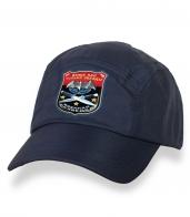 Темно-синяя незабываемая кепка-пятипанелька с термонаклейкой Военная Разведка