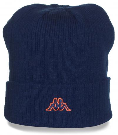 Темно-синяя шапка с логотипом Kappa. Любителям модных и удобных вещей понравится, заказывайте!