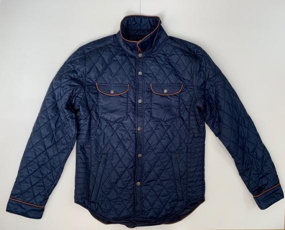Темно-синяя стеганная куртка для мужчин