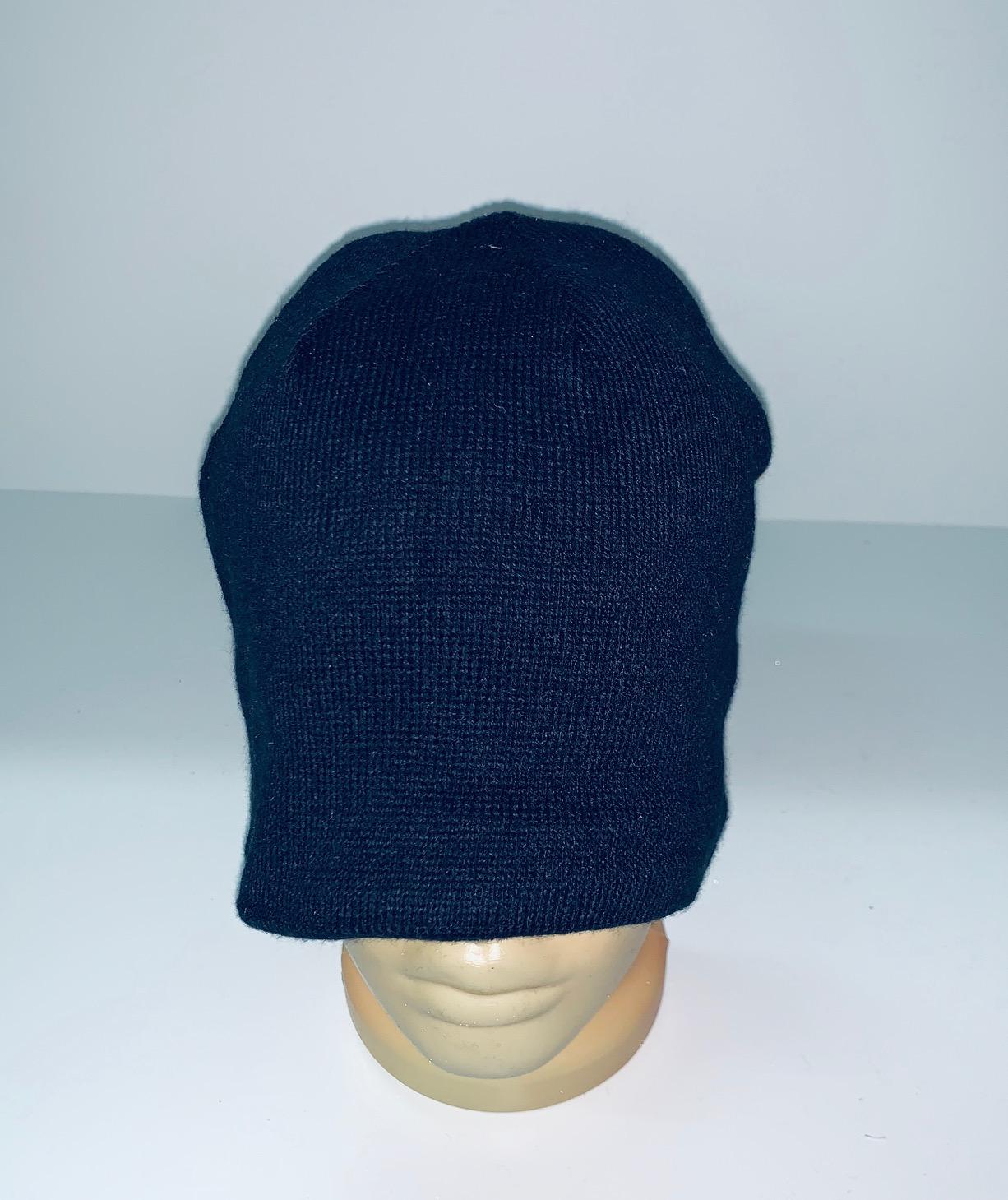 Темно-синяя топовая шапка