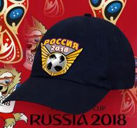 Темно-синяя зачетная бейсболка Россия 2018