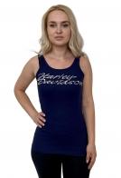 Темно-синяя женская майка Harley-Davidson