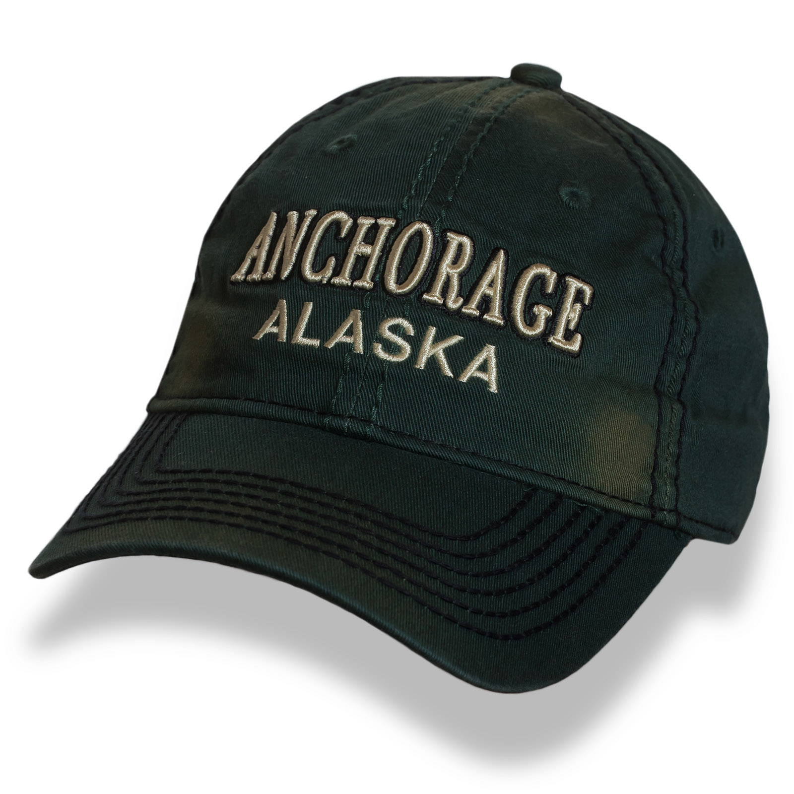 Темно-зеленая бейсболка Alaska классического кроя