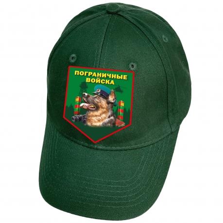 Темно-зеленая бейсболка с термотрансфером Пограничные Войска