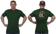 Темно-зеленая мужская футболка Outdoor life.