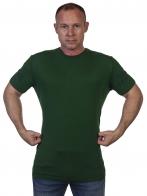Темно-зеленая мужская футболка Outdoor life. - заказать оптом