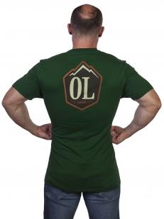 Темно-зеленая мужская футболка Outdoor life. - заказать онлайн