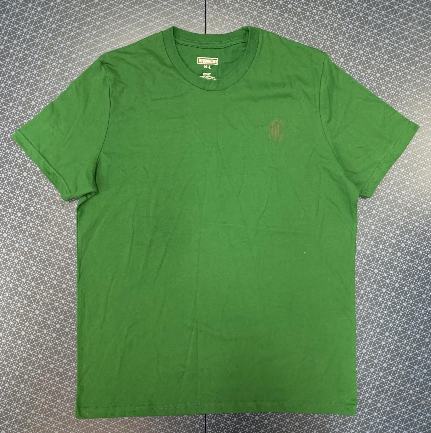 Темно-зеленая мужская футболка Outdoor life