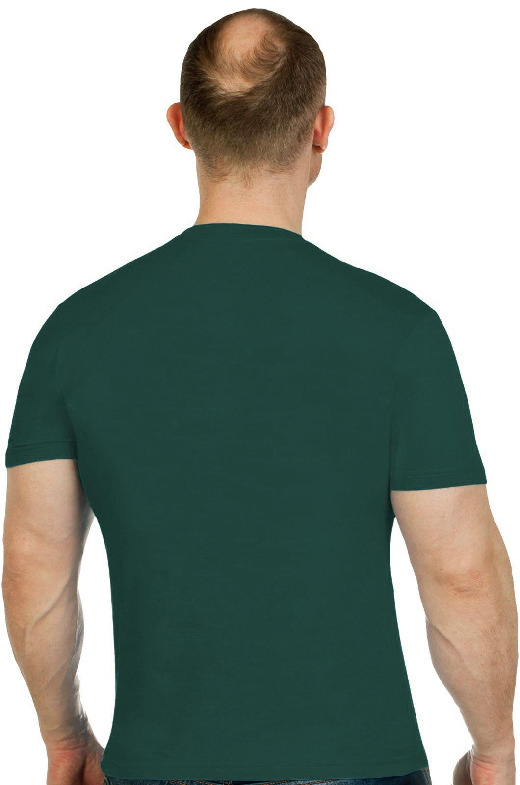 Темно-зеленая мужская футболка Пограничник - купить онлайн
