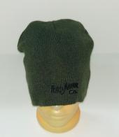 Темно-зеленая шапка с вышитой надписью