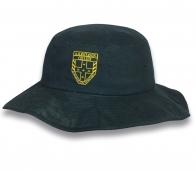 Темно-зеленая сочная шляпа-панама