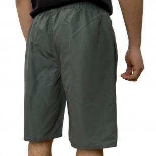 Тёмно-зелёные шорты с принтом волков от Septwolves