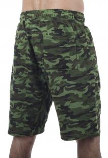 Темно-зеленые шорты удлиненного фасона с карманами и нашивкой СССР - купить онлайн