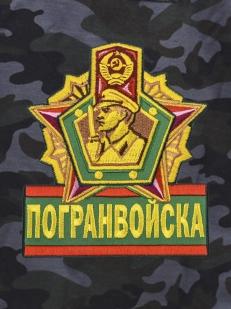 Темные армейские шорты с карманами и нашивкой Погранвойска