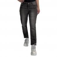 Темные женские джинсы