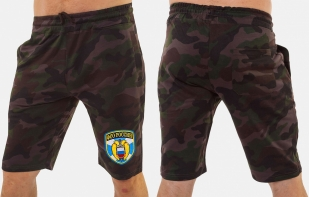 Темные крутые шорты с нашивкой ФСО - заказать выгодно