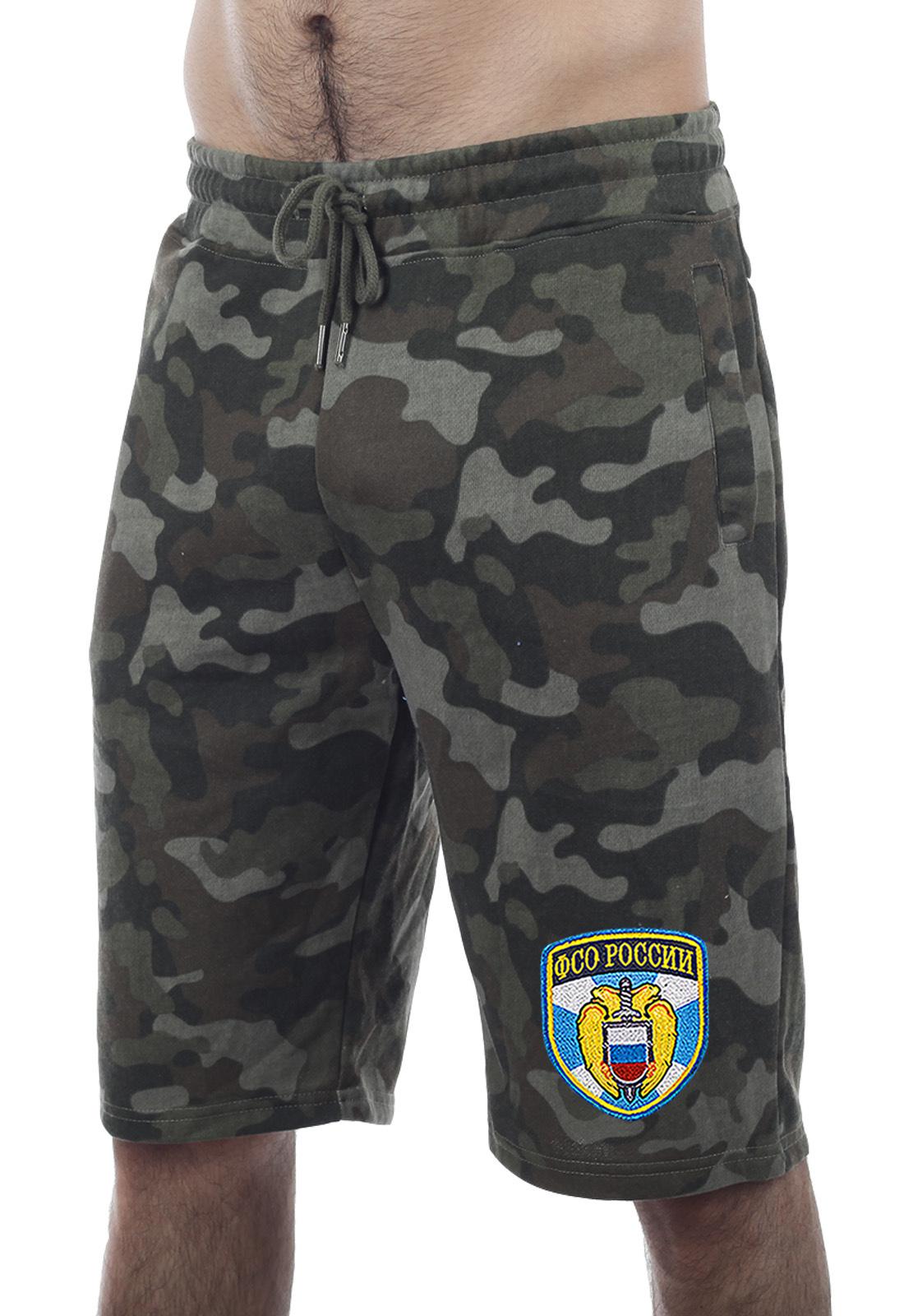 Купить темные трикотажные шорты с нашивкой ФСО по экономичной цене