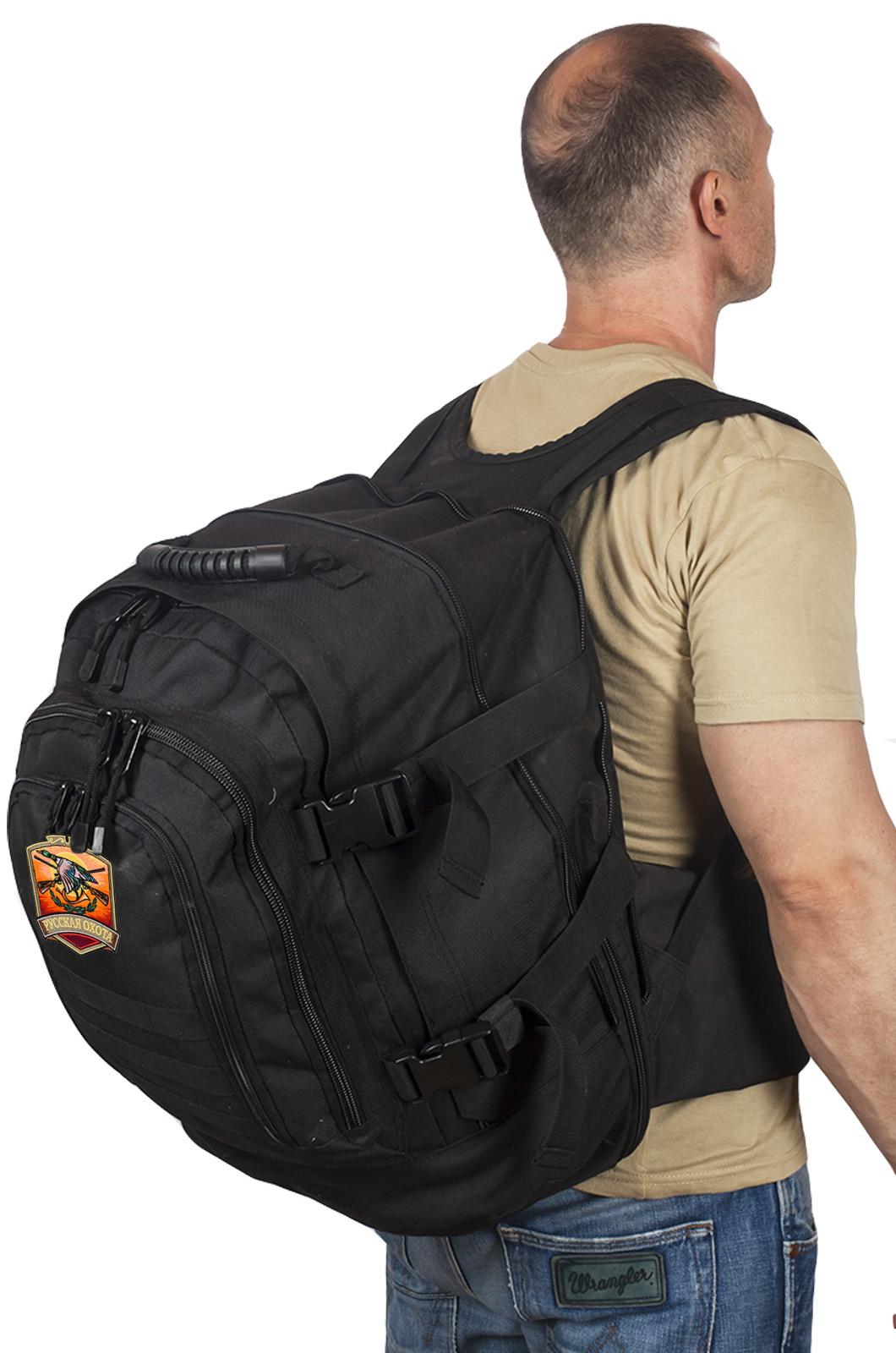 Темный трехдневный рюкзак с нашивкой Русская Охота - купить по низкой цене