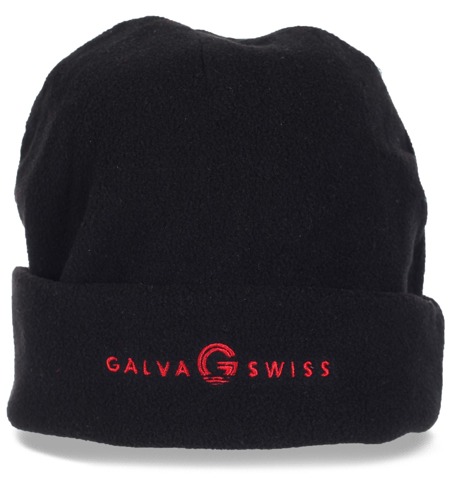 Теплая флисовая мужская шапка Galva Swiss утепленная флисом. Отменная защита твоего здоровья в морозные холода