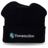 Брендовая черная шапка TorontoZoo – casual стиль