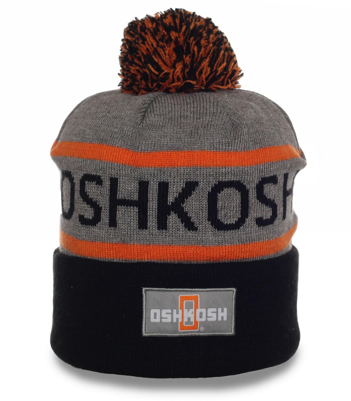 Теплая и удобная шапка Oshkosh в спортивном стиле. Эксклюзив для активных парней!