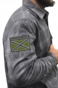 Теплая рубашка с вышитым полевым шевроном Новороссия - заказать выгодно