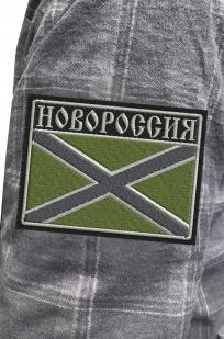 Теплая рубашка с вышитым полевым шевроном Новороссия - заказать в подарок