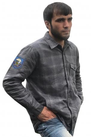 Теплая рубашка с вышитым шевроном 217 ПДП ВДВ